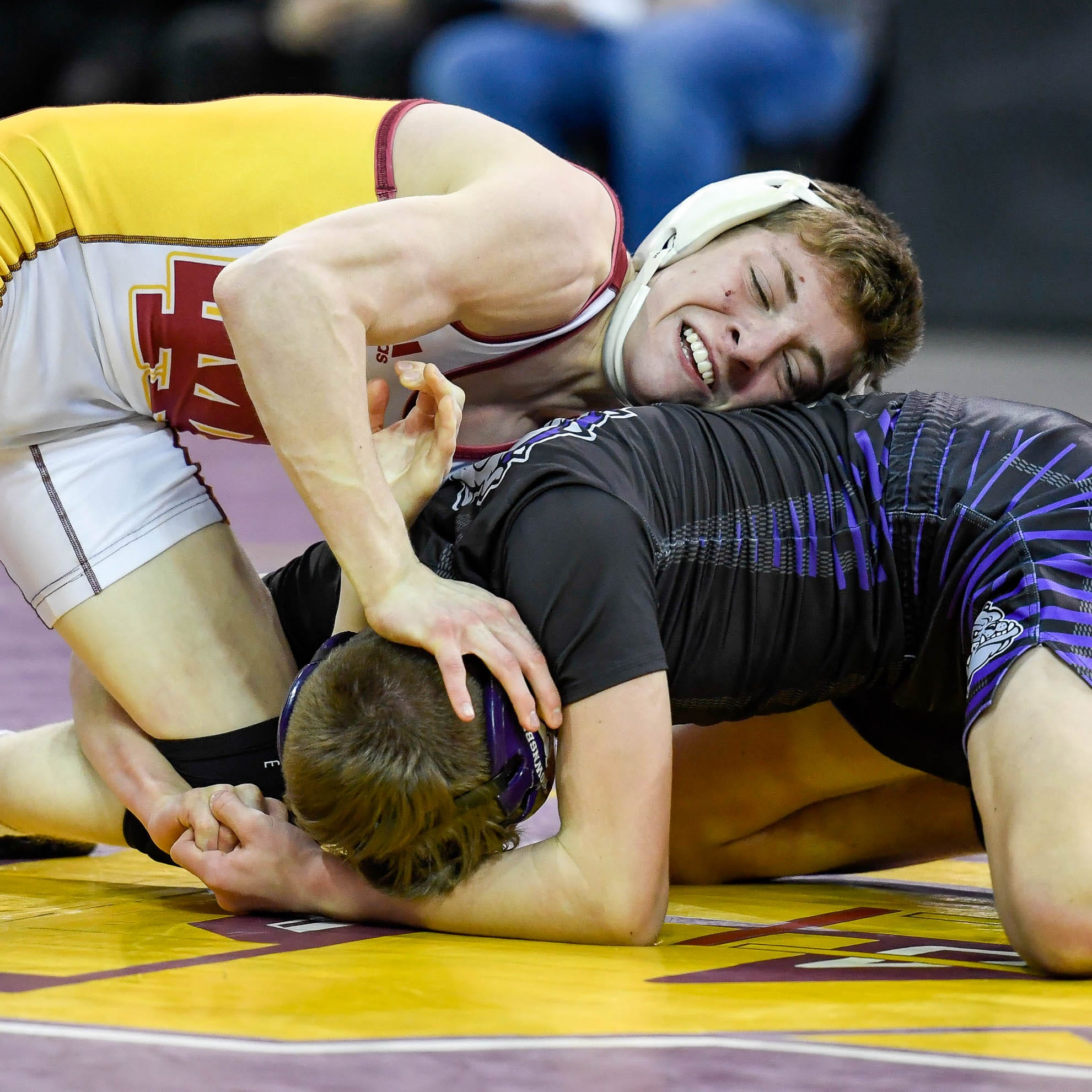 Mater Dei's Freeman moves from JV as a freshman to semistate champ as a sophomore at 106