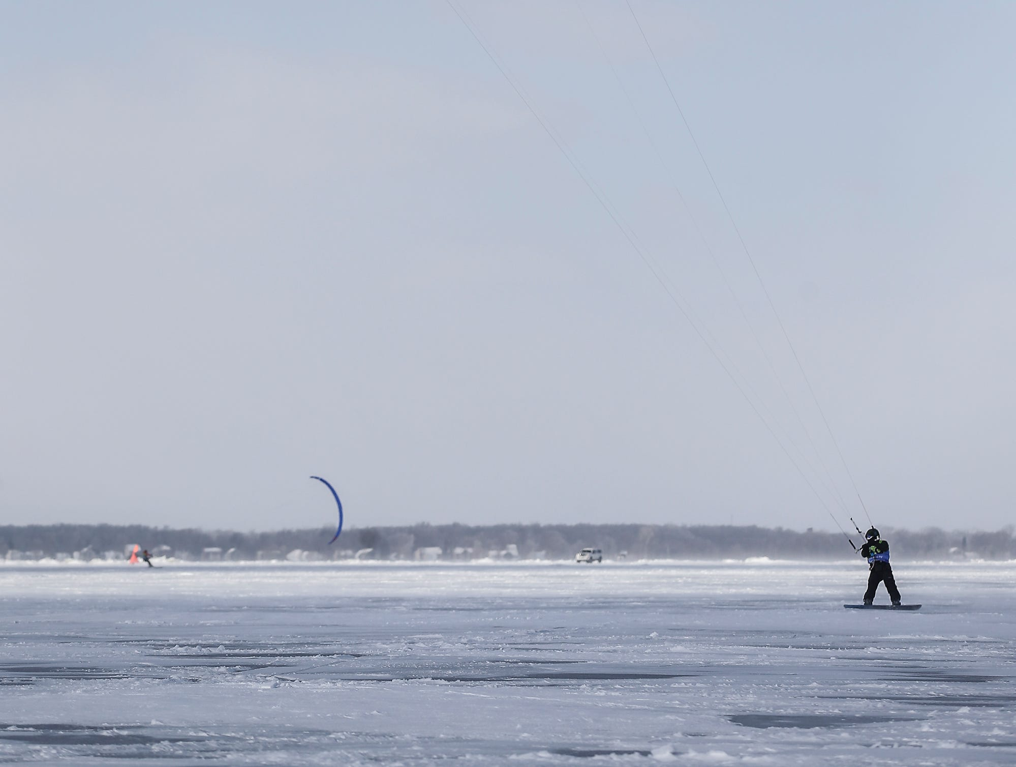 An ice sailer takes advantage of windy conditions Friday, February 8, 2019 on Lake Winnebago during Sturgeon Spectacular. Sturgeon Spectacular is a weeklong celebration of the lake sturgeon spearing season and includes events on and off the ice in the Fond du Lac area. Doug Raflik/USA TODAY NETWORK-Wisconsin