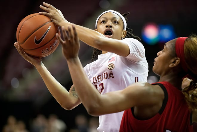 Florida State junior guard Nicki Ekhomu scored 20 points during the Seminoles 75-70 win over NC State on Thursday night at the Tucker Center.