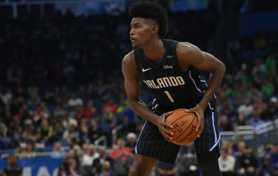 Orlando Magic power forward Jonathan Isaac is averaging 8.4 points and 5.3 rebounds per game this season.