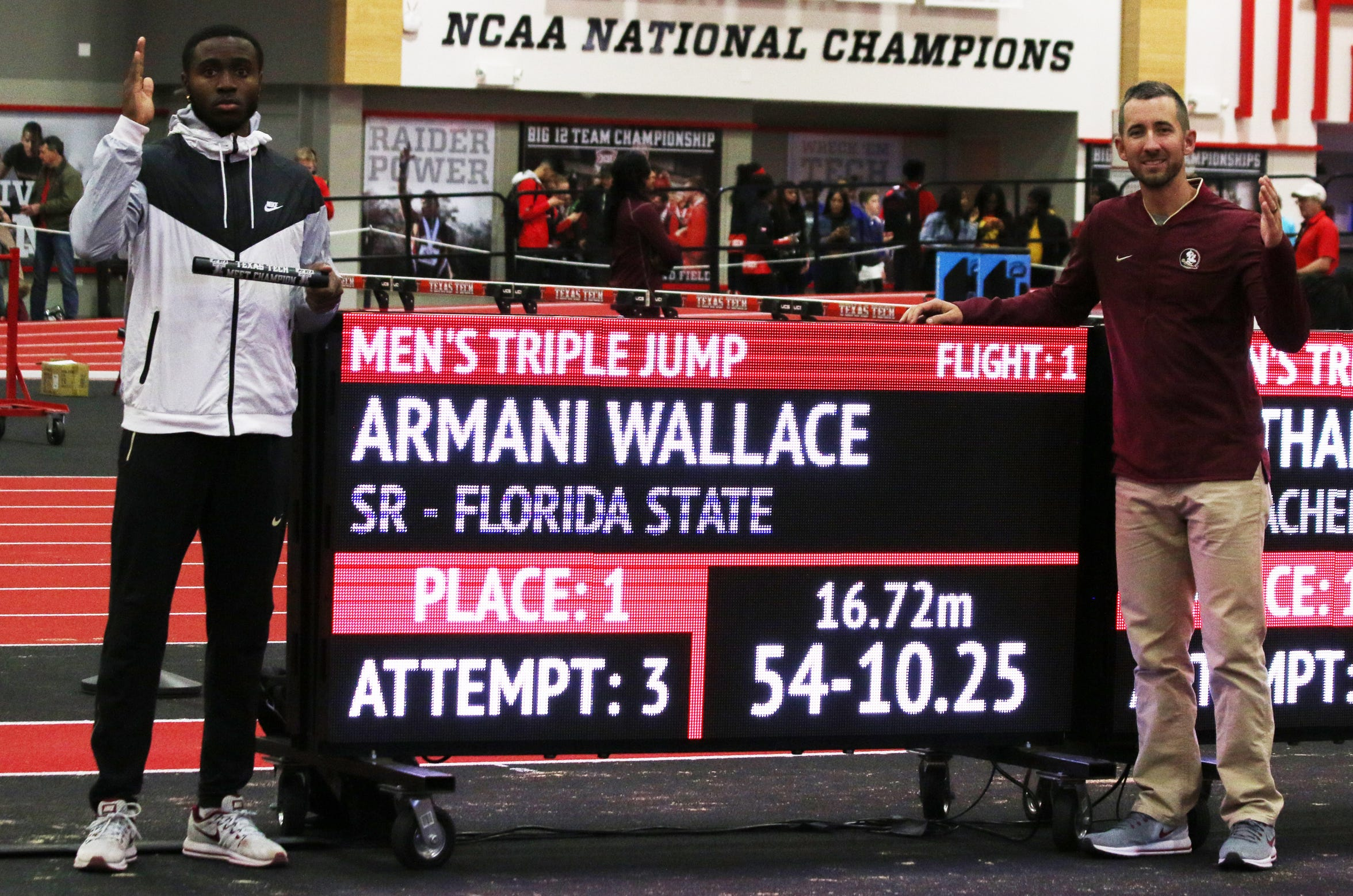 Armani Wallace's jump of 16.72 meters at the Texas Tech Sports Performance Center two weeks ago left his mark on one of the most storied programs in the country.