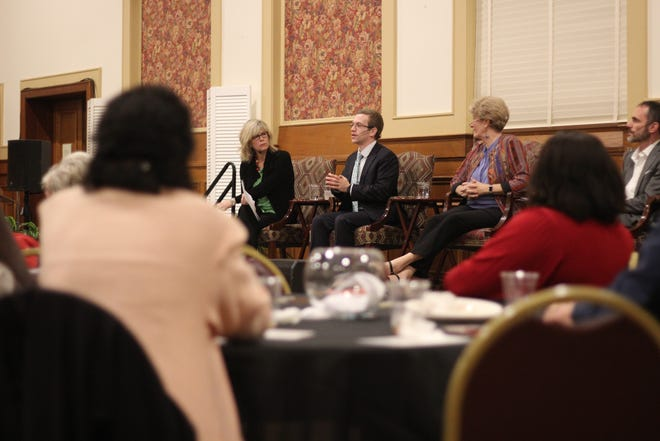 Speakers discuss hate speech and polarization at a panel discussion for Holocaust Education Week.