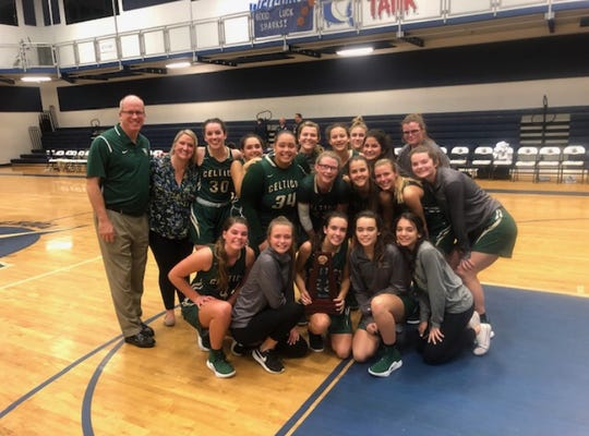 St. John Neumann won the Class 5A-District 10 girls basketball title over Bishop Verot, 51-44, on Friday.