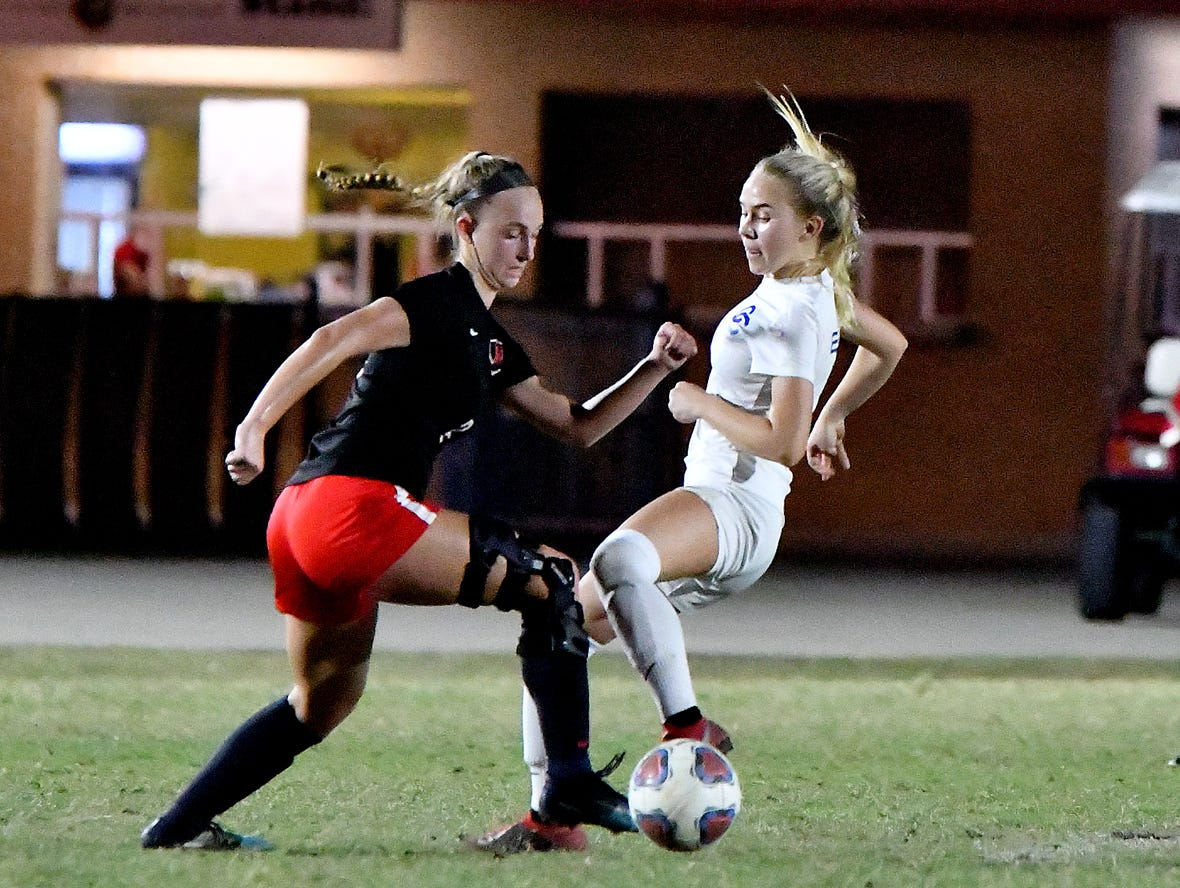 North Fort Myers High School girls soccer team takes on Cape Coral High School in the regional semifinal game, Friday, Feb. 8, 2019.