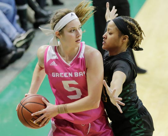 UWGB senior guard Laken James was a second-team all-conference selection in the Horizon League this season.