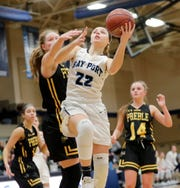 Bay Port's McKenzie Johnson was a second-team all-conference selection in the Fox River Classic and is one of the Pirates' leading scorers.
