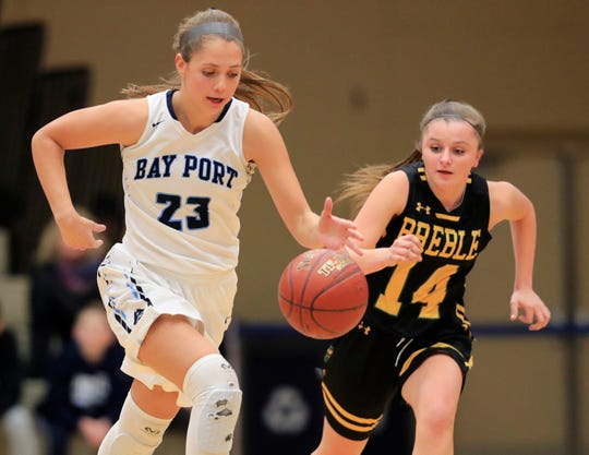 Bay Port junior Emma Nagel (23) was both the player of the year and the defensive player of the year in the FRCC this season.