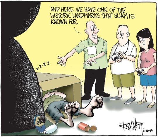 Sunday cartoon on homelessness for 02/10/19.