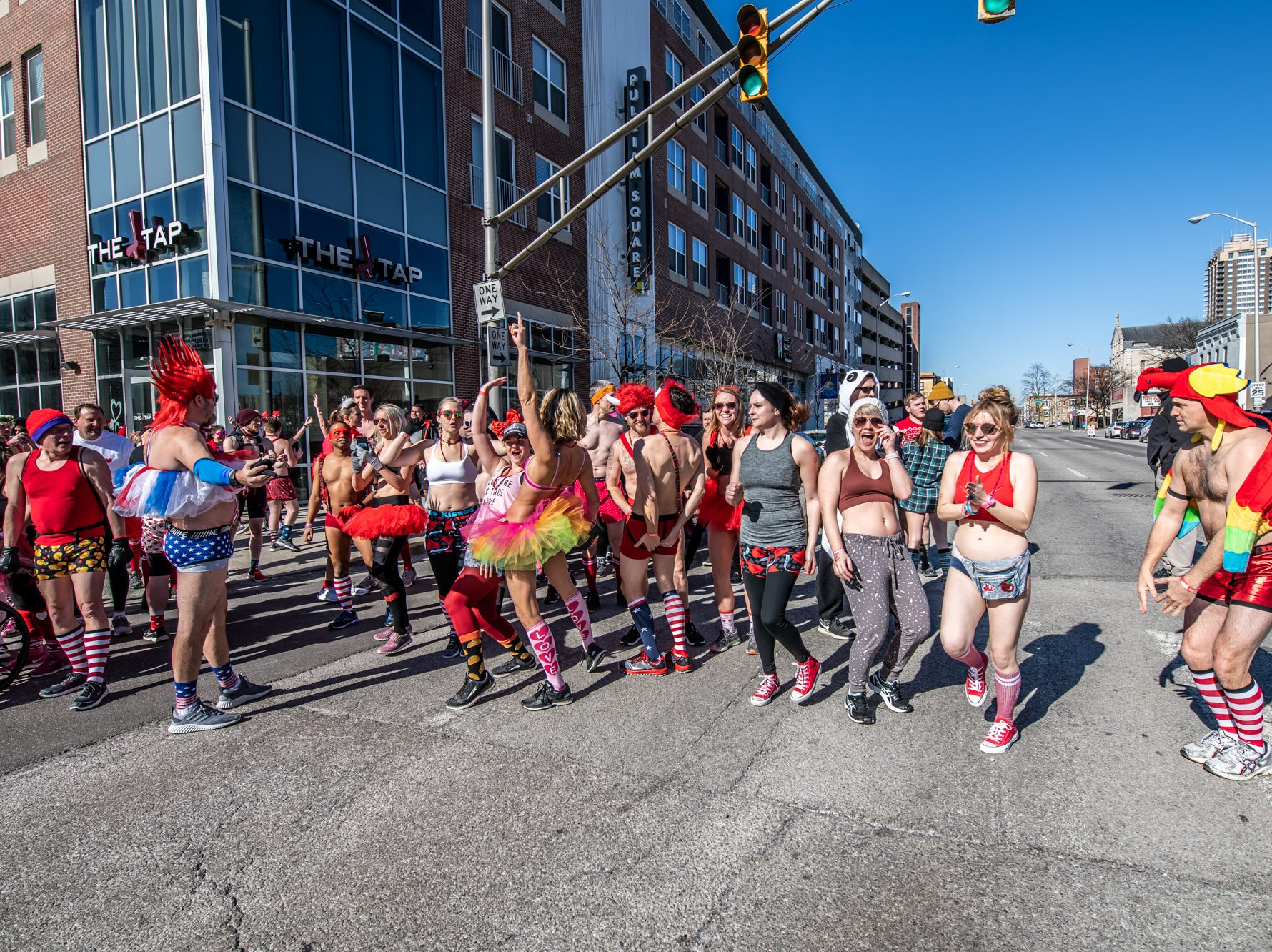 Cupid's Undie Run raised awareness and gathered donations for The Children's Tumor Foundation at The Tap in Indianapolis on Saturday, Feb. 9, 2019