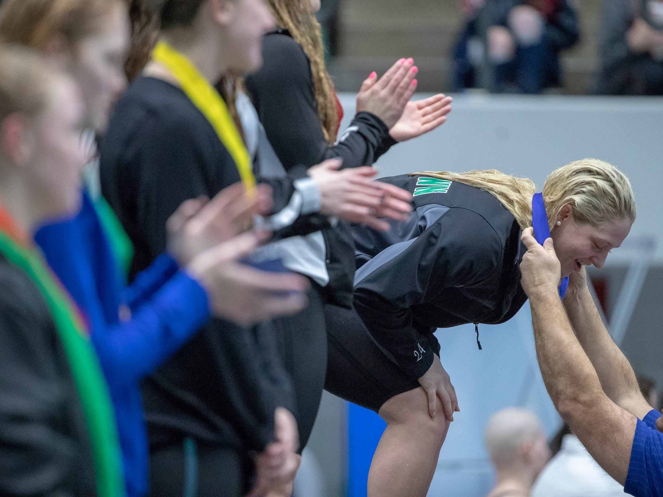 Yorktown's Emily Weiss joins select company with 4th state championship
