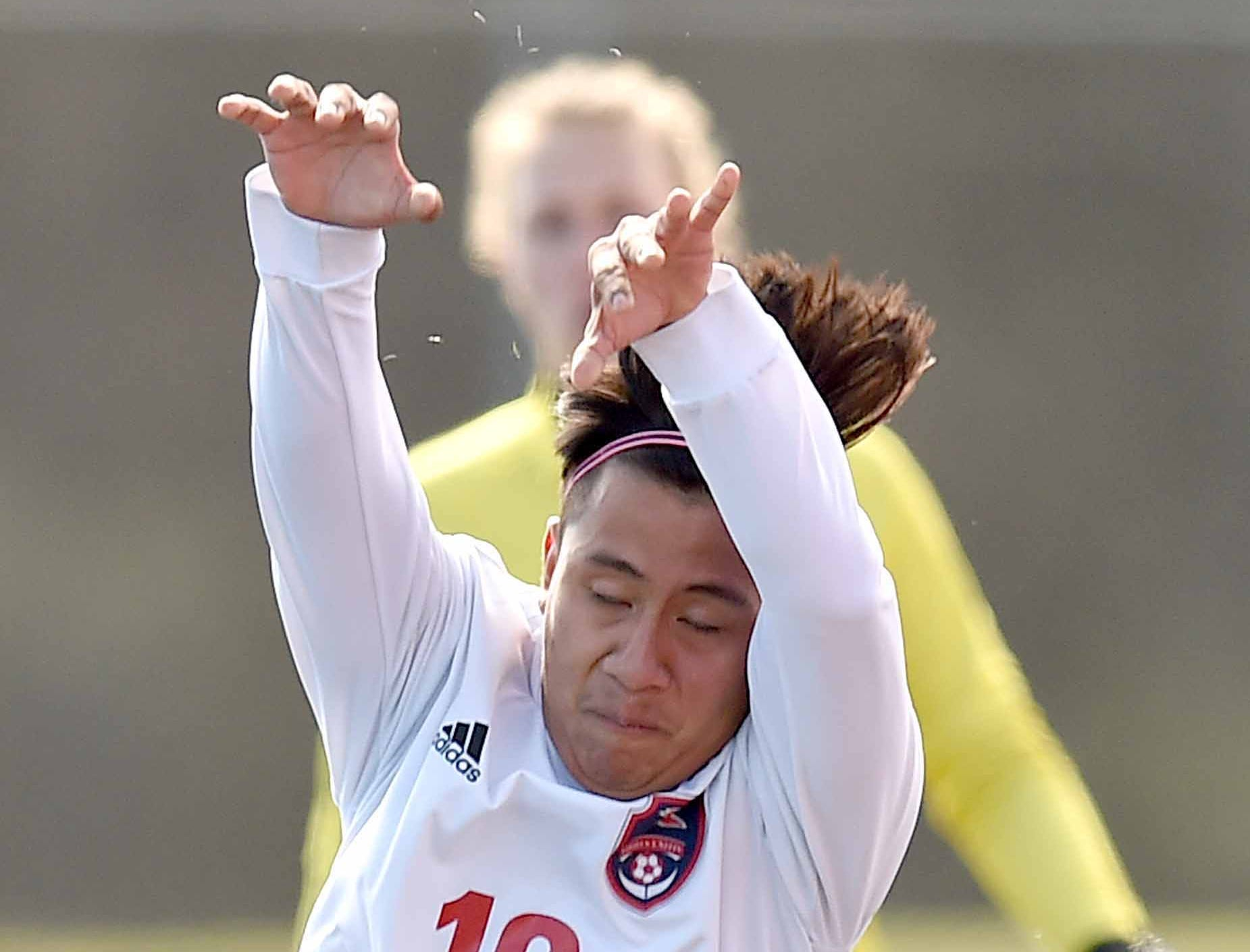 Richland's Alexander Mariano-Gregorio (16) throws in against West Lauderdale in the Class 4A state championship in the MHSAA BlueCross Blue Shield of Mississippi Soccer Classic on Saturday, February 9, 2019, at Ridgeland High School in Ridgeland, Miss.
