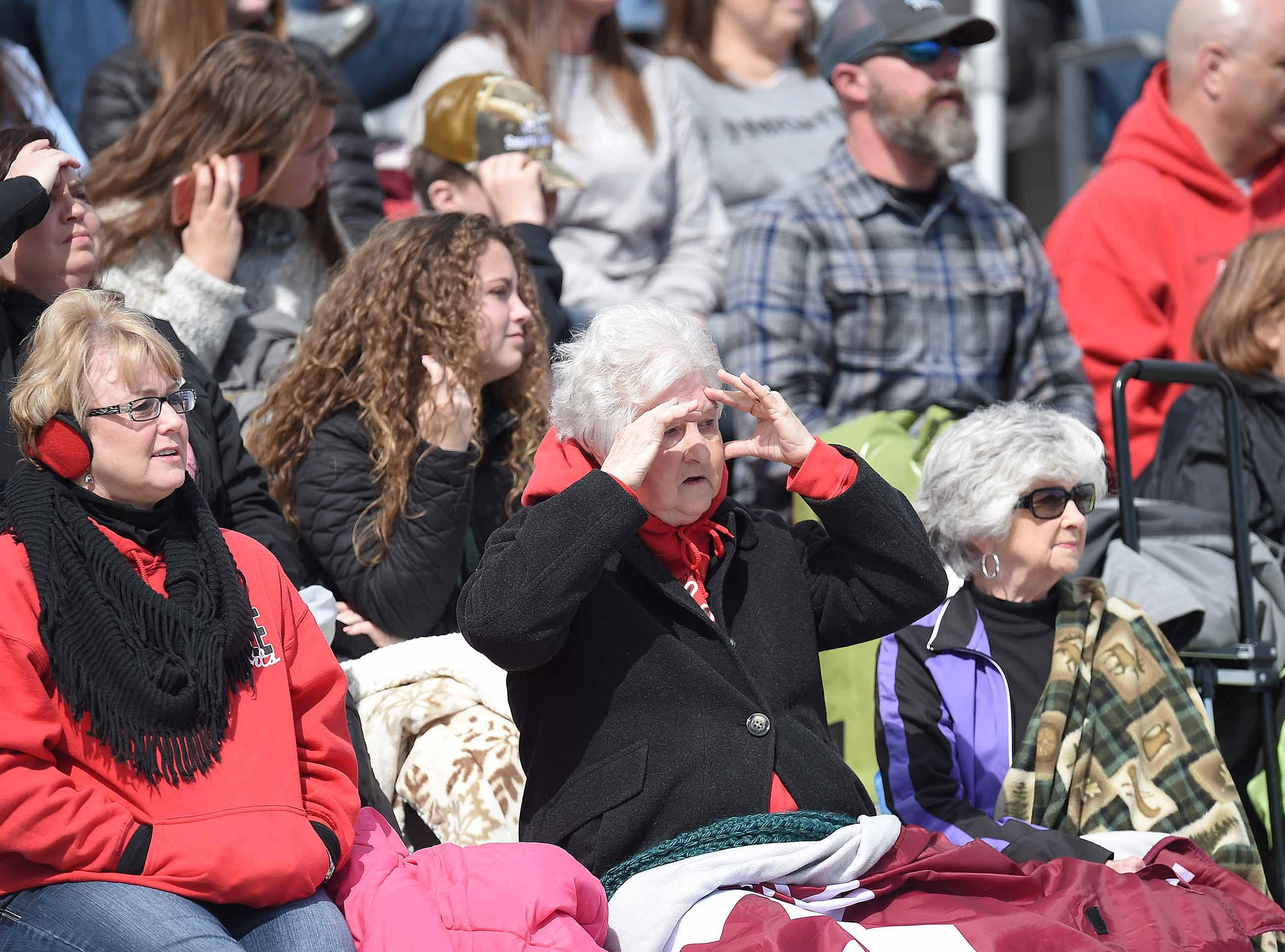 West Lauderdale fans enjoy the sunshine on a cool day for the Class 4A state championship in the MHSAA BlueCross Blue Shield of Mississippi Soccer Classic on Saturday, February 9, 2019, at Ridgeland High School in Ridgeland, Miss.