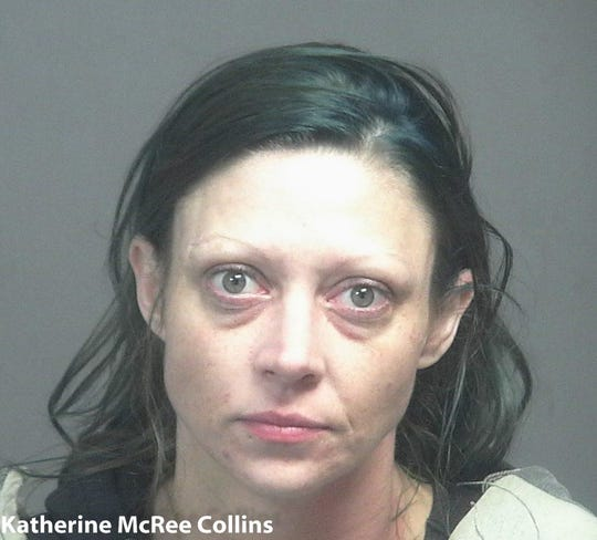 Katherine McRee Collins, 36, of Maryville, was arrested on charges of possession of Schedule I and Schedule II controlled substances on Friday.