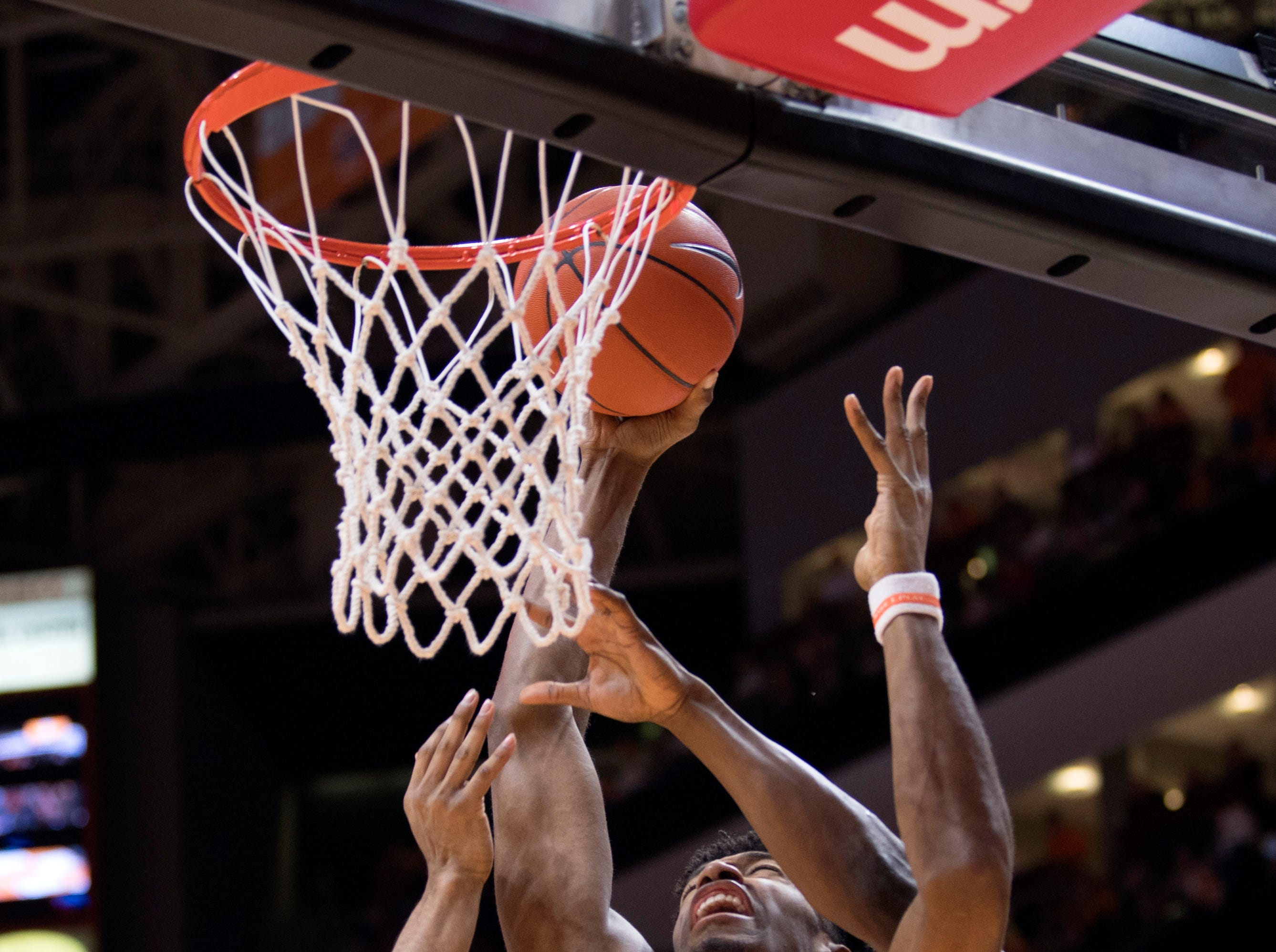 Tennessee forward Kyle Alexander (11) attempts a shot during Tennessee's home SEC conference game against Florida at Thompson-Boling Arena in Knoxville on Saturday, February 9, 2019.