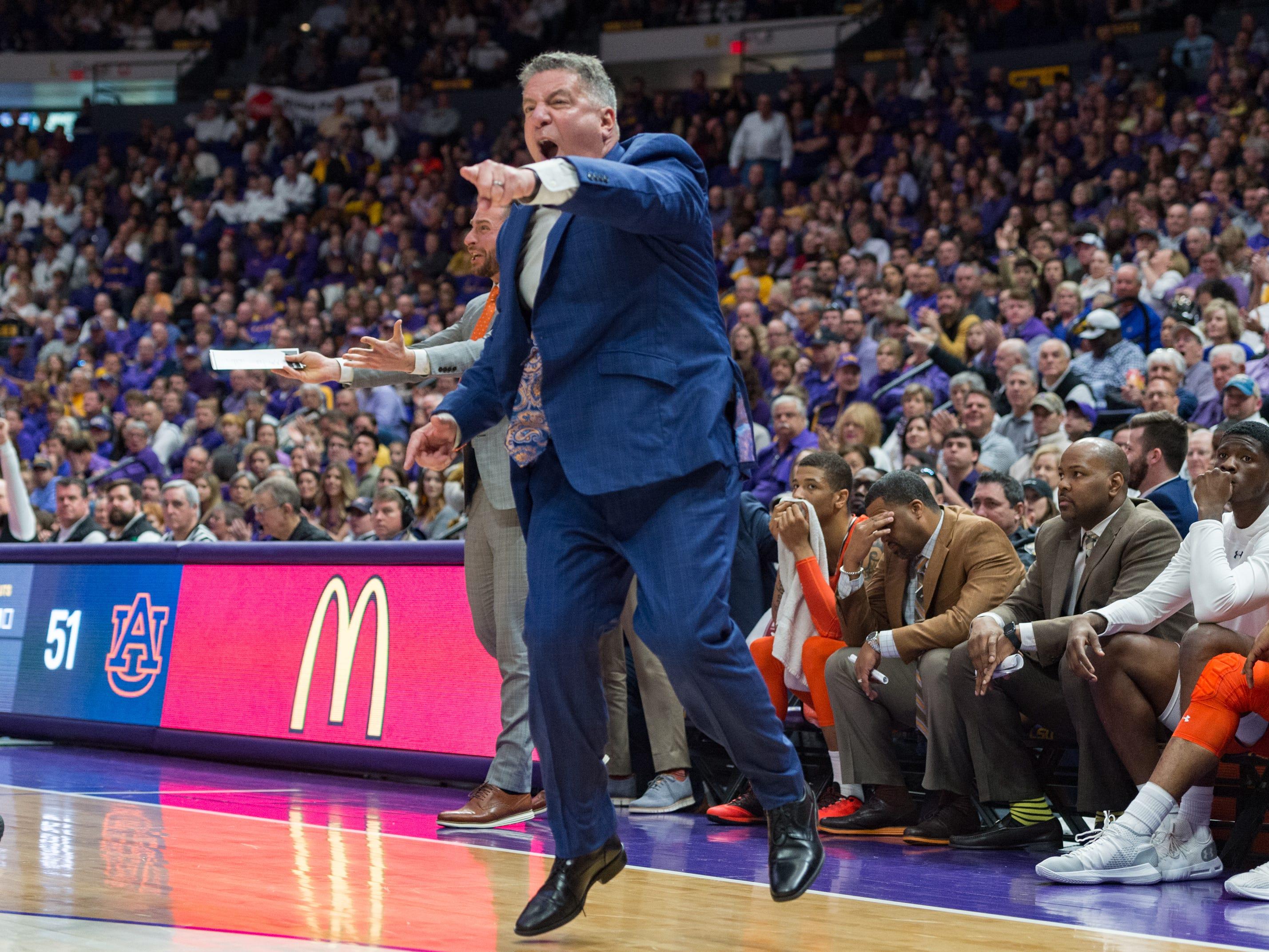 Auburn head coach Bruce Pearl as the LSU Tigers take down the Auburn Tigers 83-78. Saturday, Feb. 9, 2019.