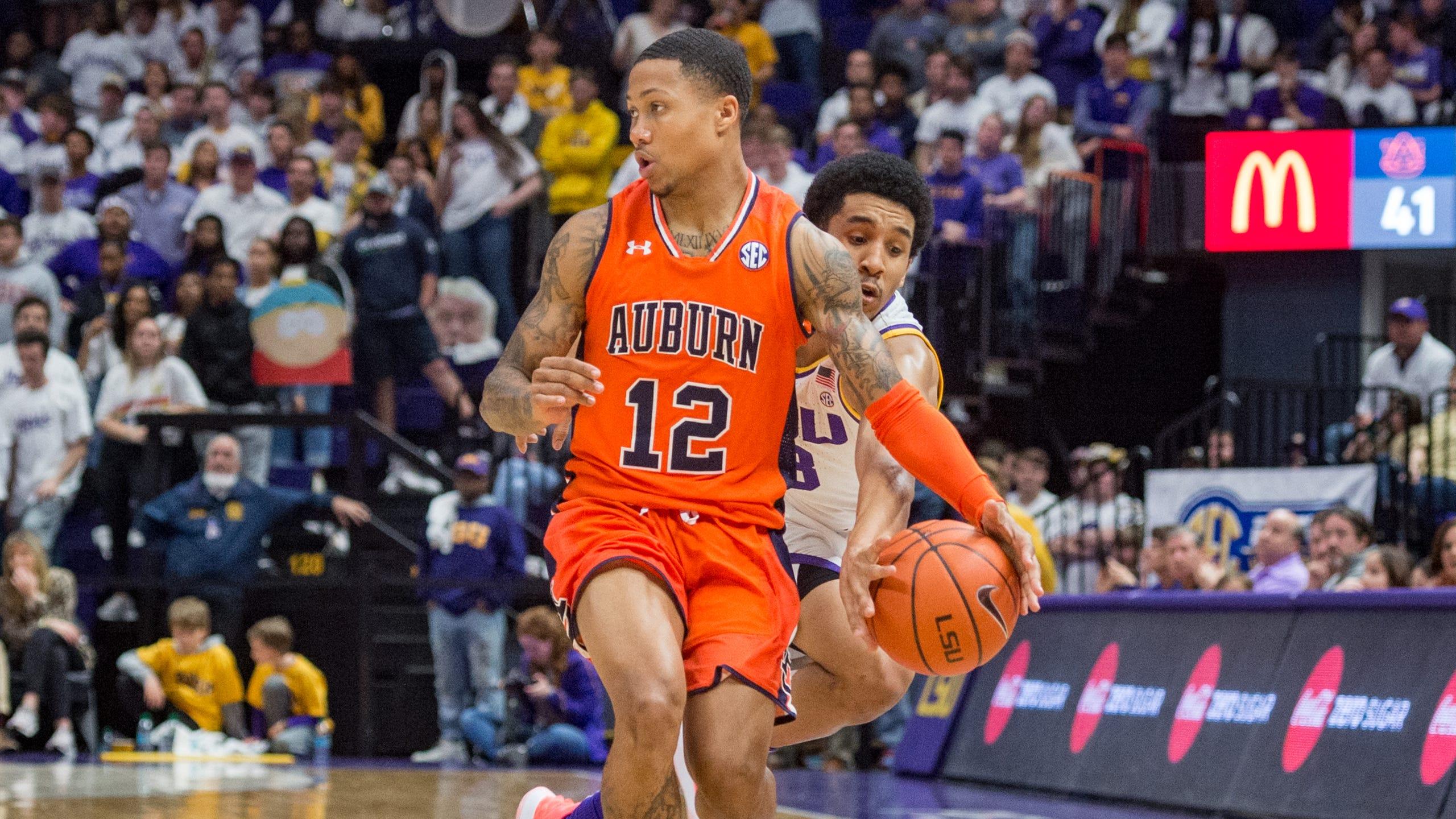 Photos Lsu Takes Down Auburn Basketball
