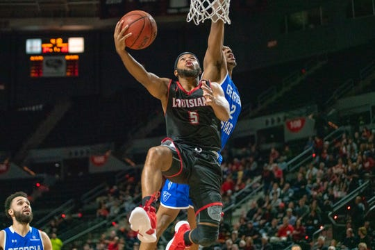 UL point guard Trajan Wesley scored eight of his 10 points in the second half as the Ragin' Cajuns take on the Georgia State Panthers at the Cajundome on Friday night.