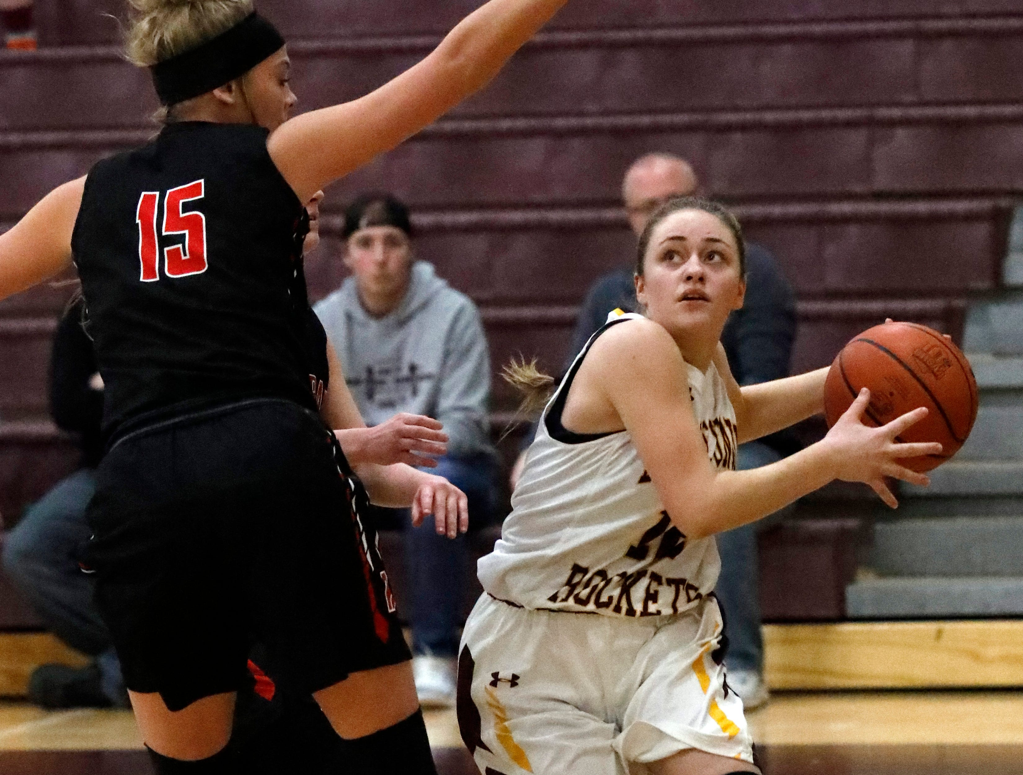 Bishop Rosecrans defeated Berne Union 46-43 Friday night, Feb. 8, 2019, at Berne Union High School in Sugar Grove.