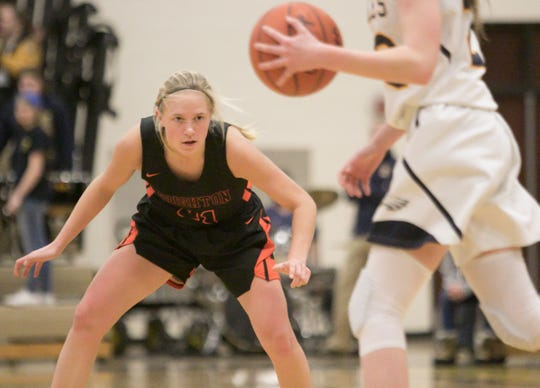 Martha Pietila is a strong defensive player for a Brighton basketball team that reached the regional championship round.
