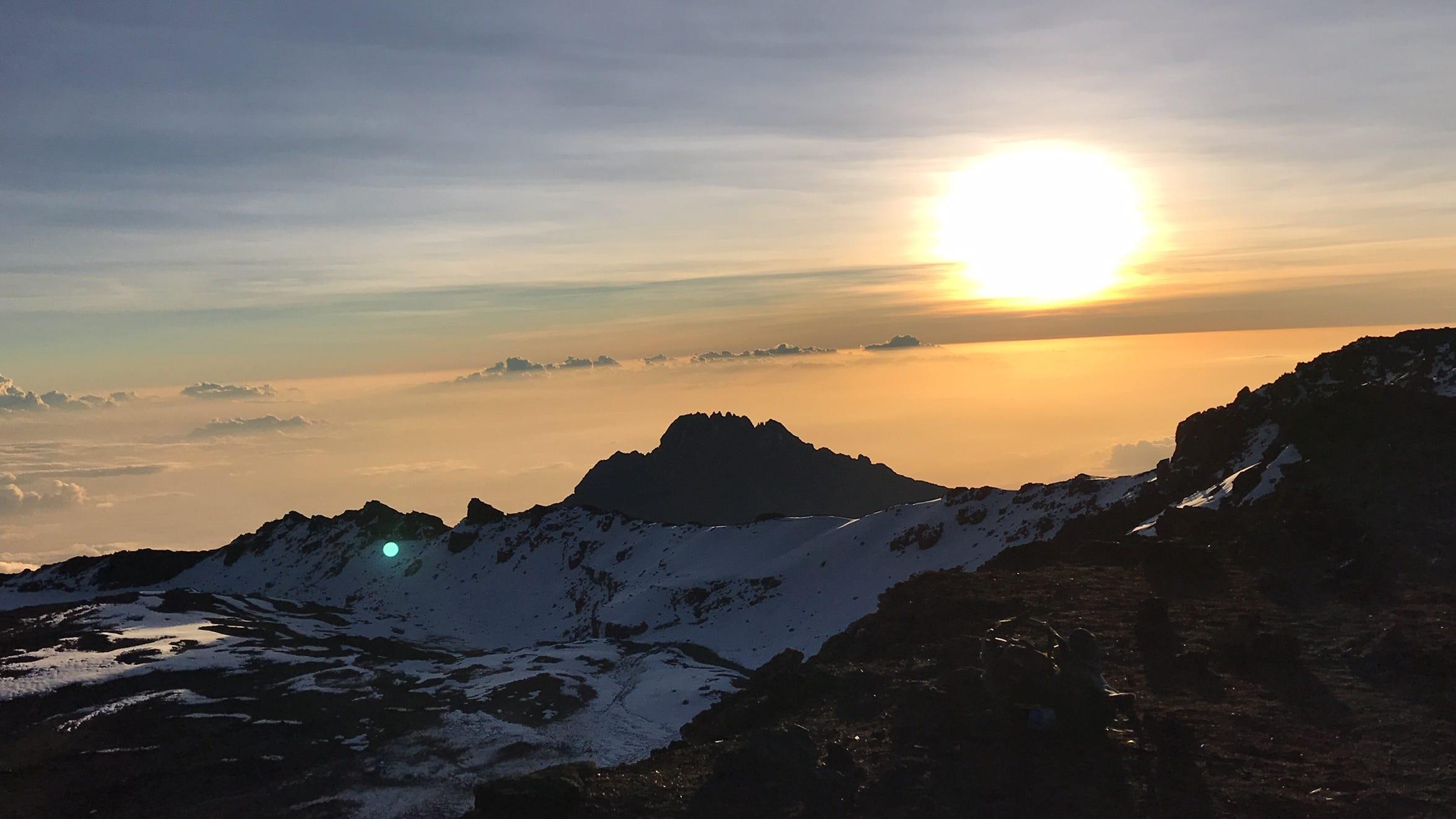 Sunrise from the summit of Kilimanjaro, Tanzania