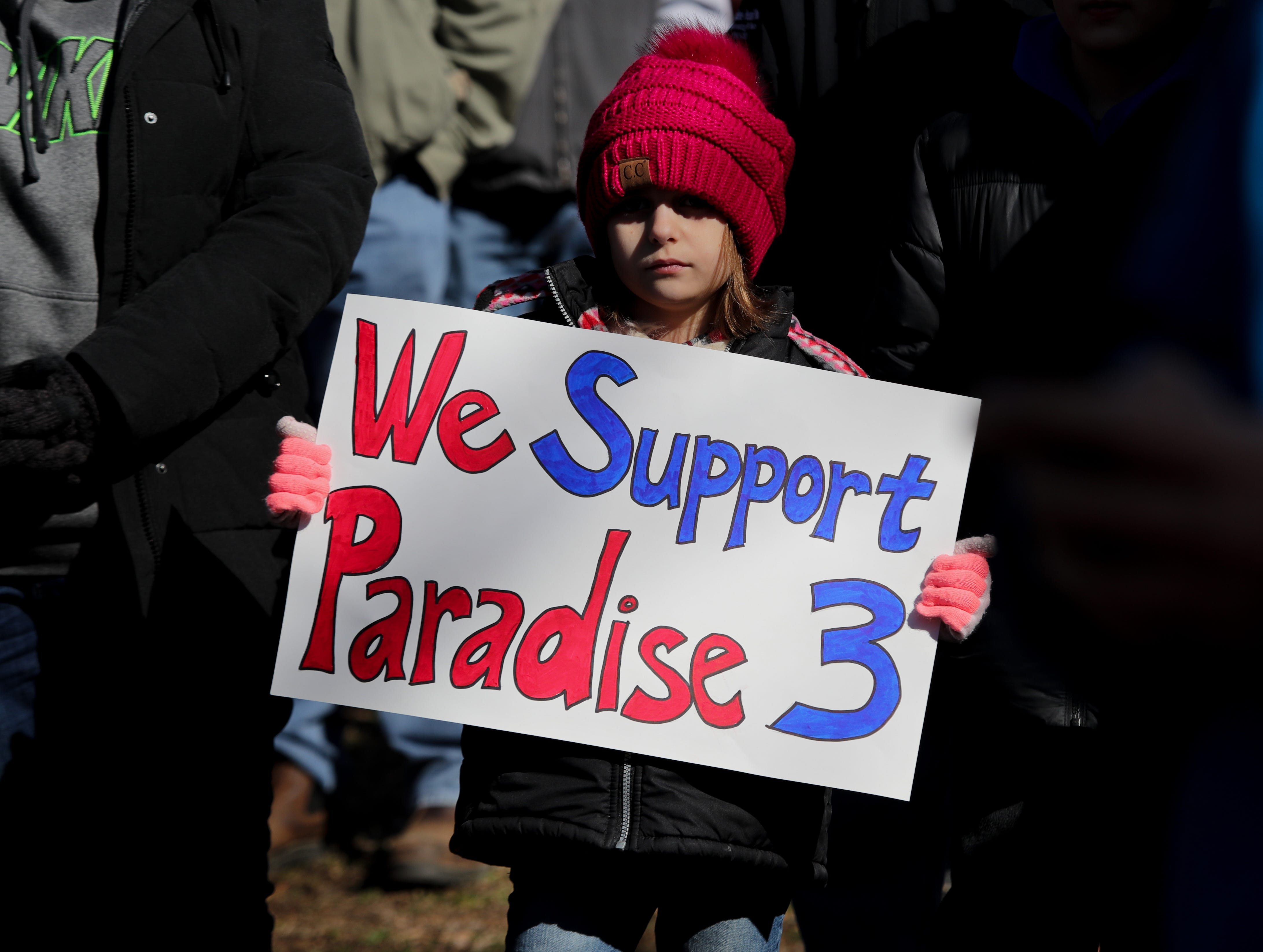 A community rally is held in Powderly to help save the Paradise Fossil Plant in Muhlenberg County. The western Kentucky coal-fired power plant's future is up for vote at the next TVA board meeting on Feb. 14th.Feb. 9, 2019
