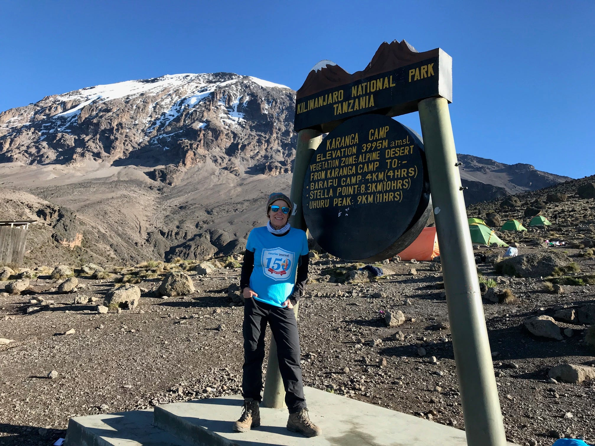 Kirby Adams at Karanga Camp  Mount Kilimanjaro, Tanzania