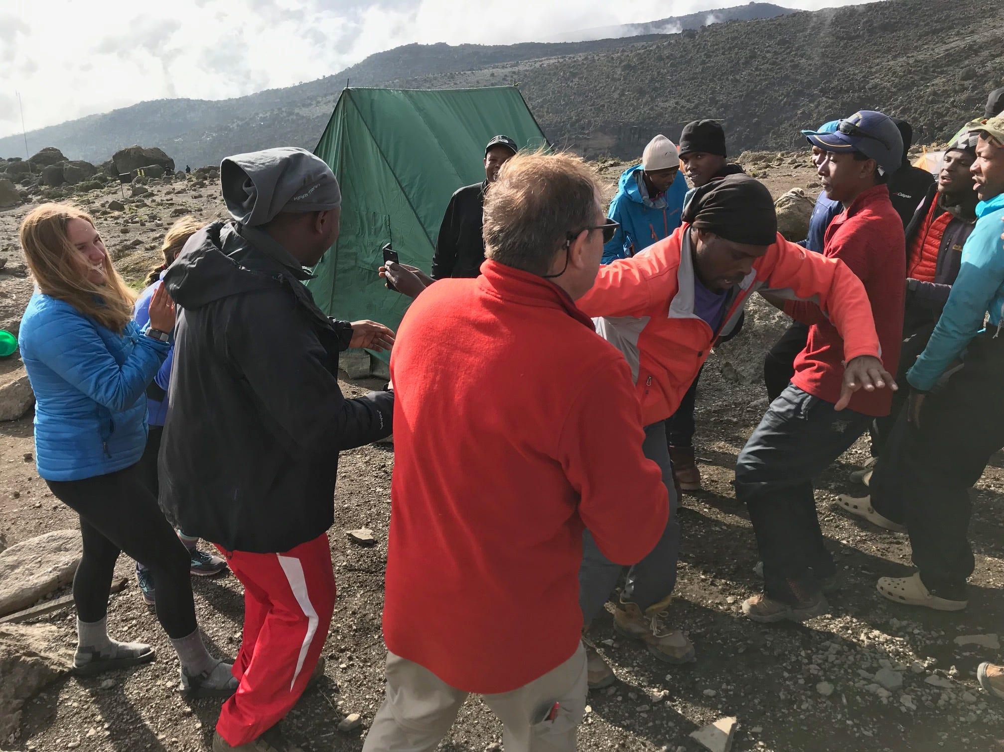 An evening dance party Jordan Grantz, John Grantz, Elliott Grantz Mount Kilimanjaro, Tanzania