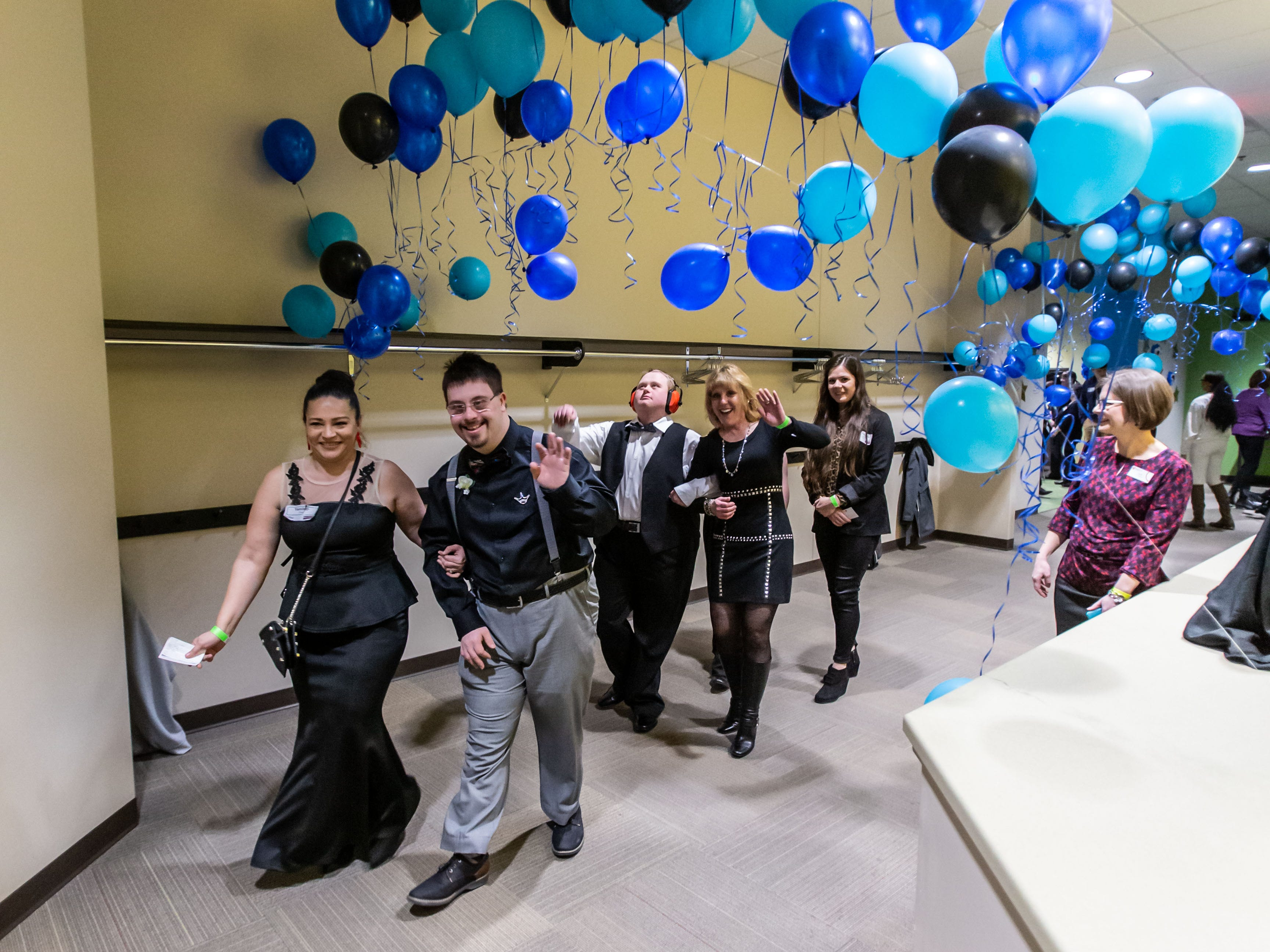 Guests and their chaperones enjoy a festive atmosphere during the Night to Shine Prom hosted by Brooklife Church in Mukwonago on Friday, Feb. 8, 2019. Night to Shine is a unforgettable prom night experience for people with special needs sponsored by the Tim Tebow Foundation. The event is hosted by local churches in all 50 states across the globe all on one night.