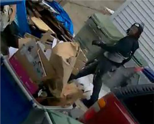This man is suspected of illegally dumping trash in Milwaukee.