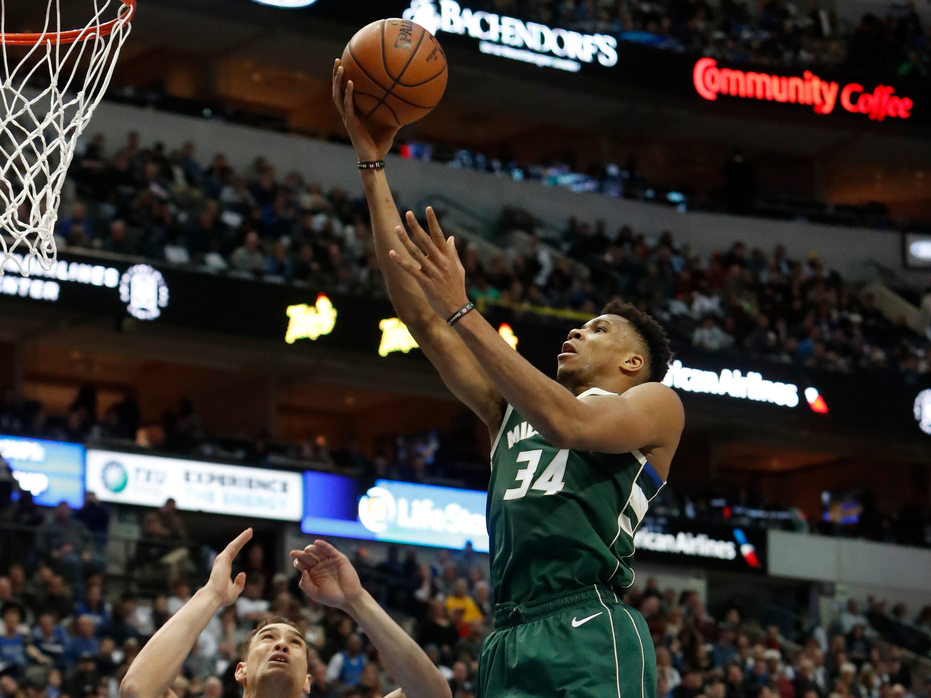 Giannis Antetokounmpo and the Bucks had their way against the Mavericks in the paint on Friday night. The Greek Freak finished with 29 points, most coming on drives to the basket, and 17 rebounds while Milwaukee outscored Dallas, 80-26, in the paint.