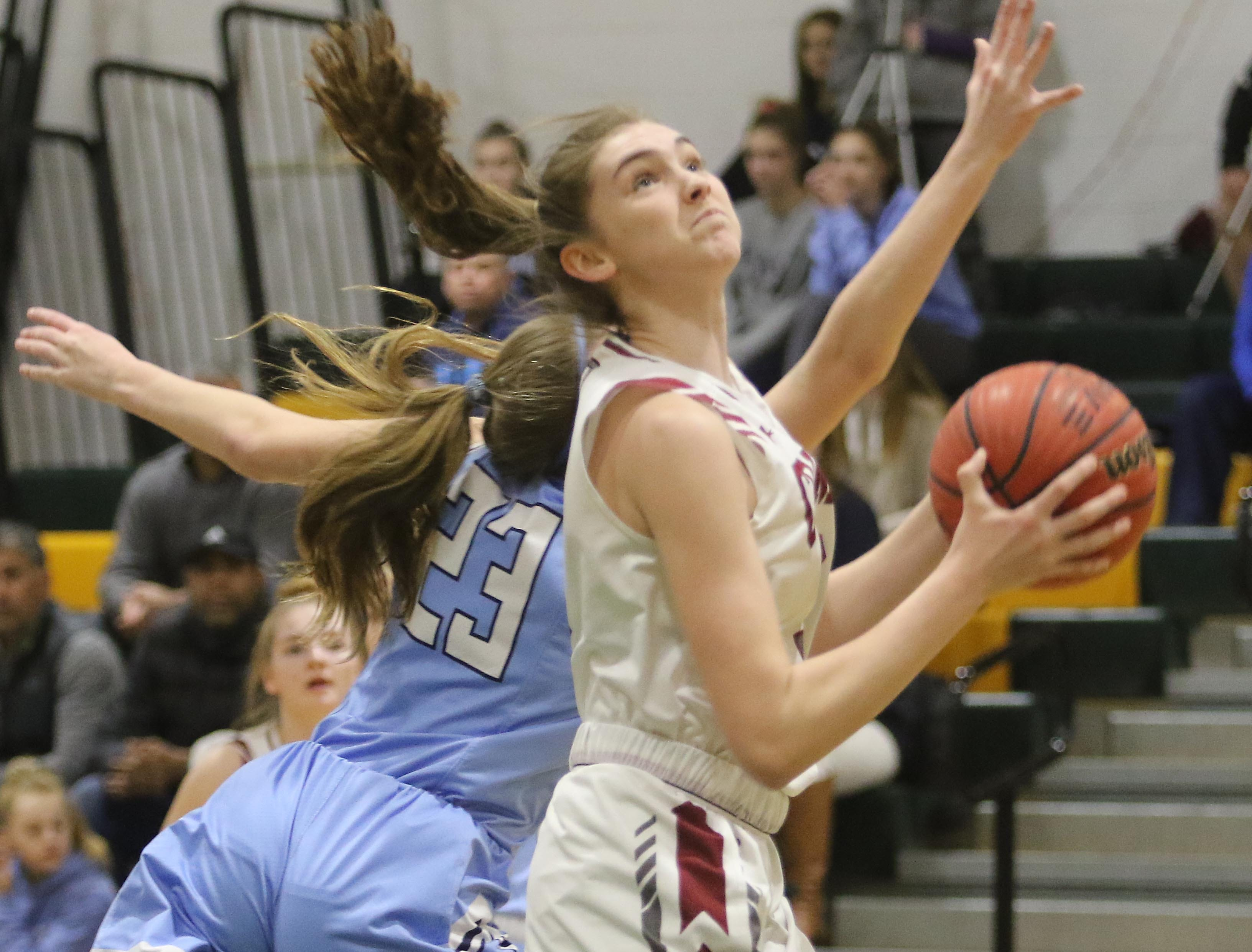 Erin Martin of Morristown-Beard goes up for the shot in the first half.