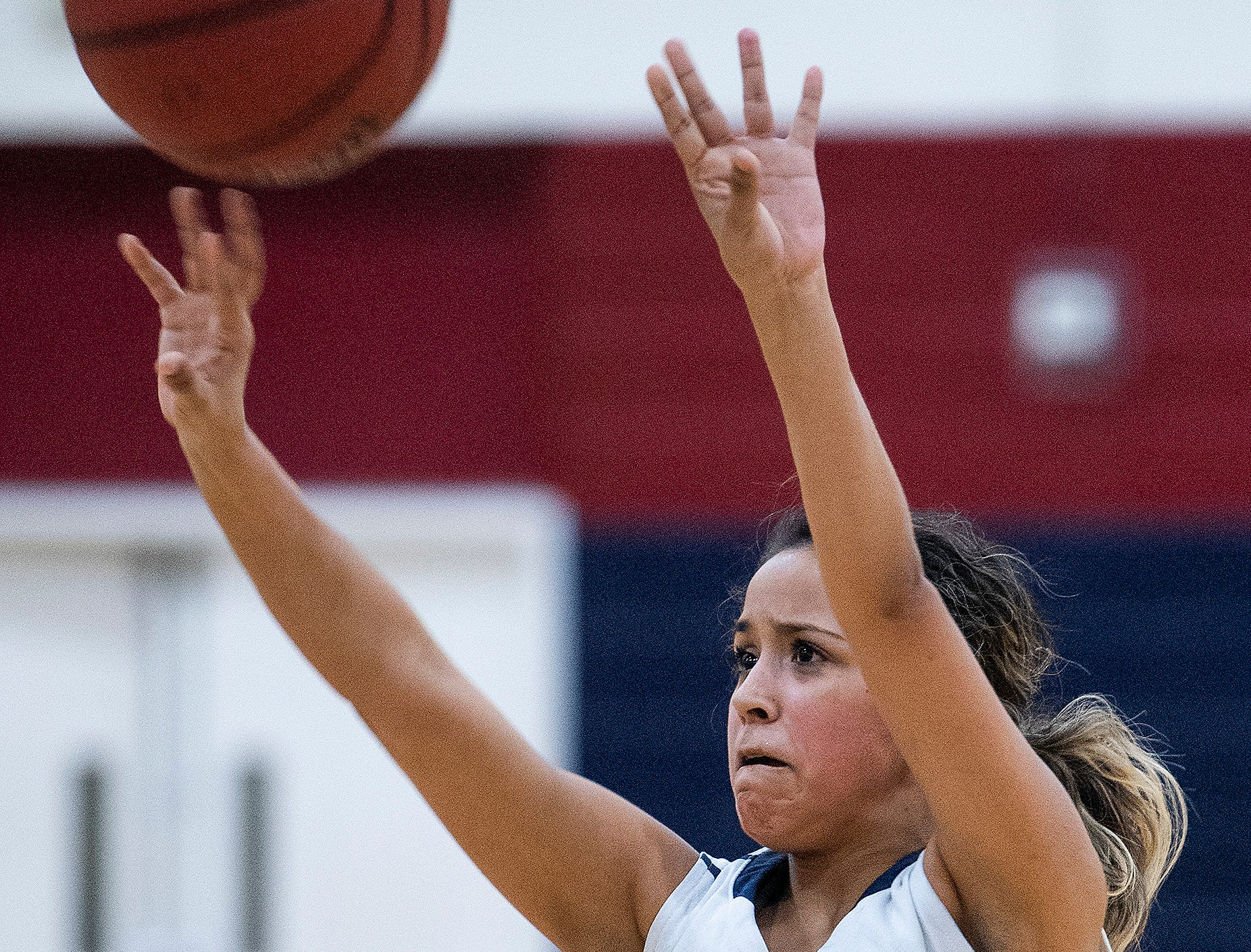 Montgomery Academy's Gabby Ramirez (24) shoots against Pike Road on the MA campus in Montgomery, Ala., on Friday February 8, 2019.