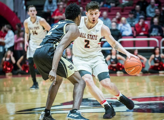 Ball State's Tayler Persons, shown here earlier this season against Western Michigan, scored 20 points Tuesday against Toledo.
