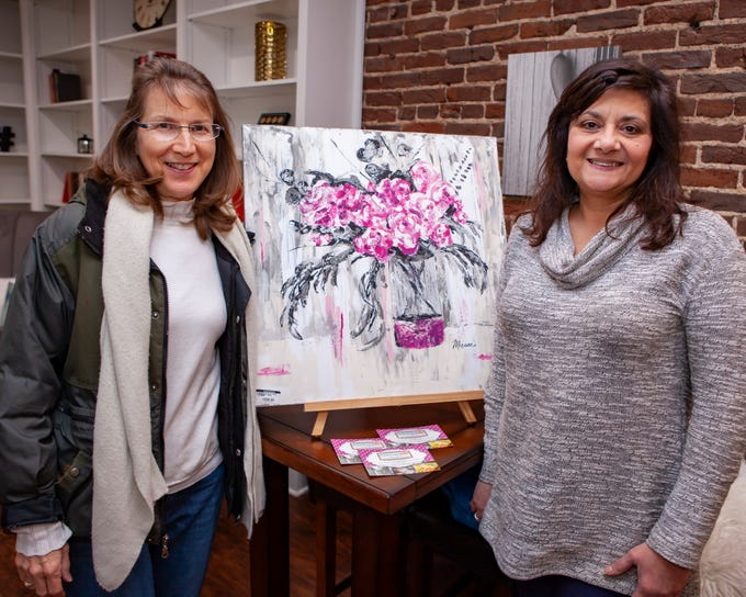 Mariana Eddy and Deneen Glildwell at the Boro Art Crawl on Friday, Feb. 8, 2019.
