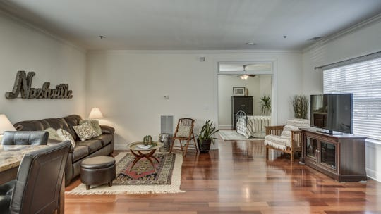 Shannon Harmon of Murfreesboro staged this condo listed for sale by Robin Lyons. They replaced traditional furniture to create a more modern look. The condo is at 303 Criddle, Unit 213, in Harrison Square in Nashville's Germantown neighborhood. An open house is scheduled Feb. 17 from 2 p.m. to 4 p.m.