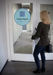 Consisting of 13 individual 10-by-10-footoffices, NolenSpot offices come with stand-up desks, stand-up chairs, Wi-Fi, refreshments, copying services, security and a conference room.