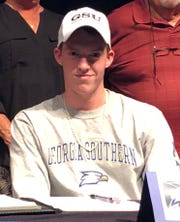 Palmetto Ridge senior soccer player Lawson Dooling signed with Georgia Southern on Friday, Feb. 8, 2019.
