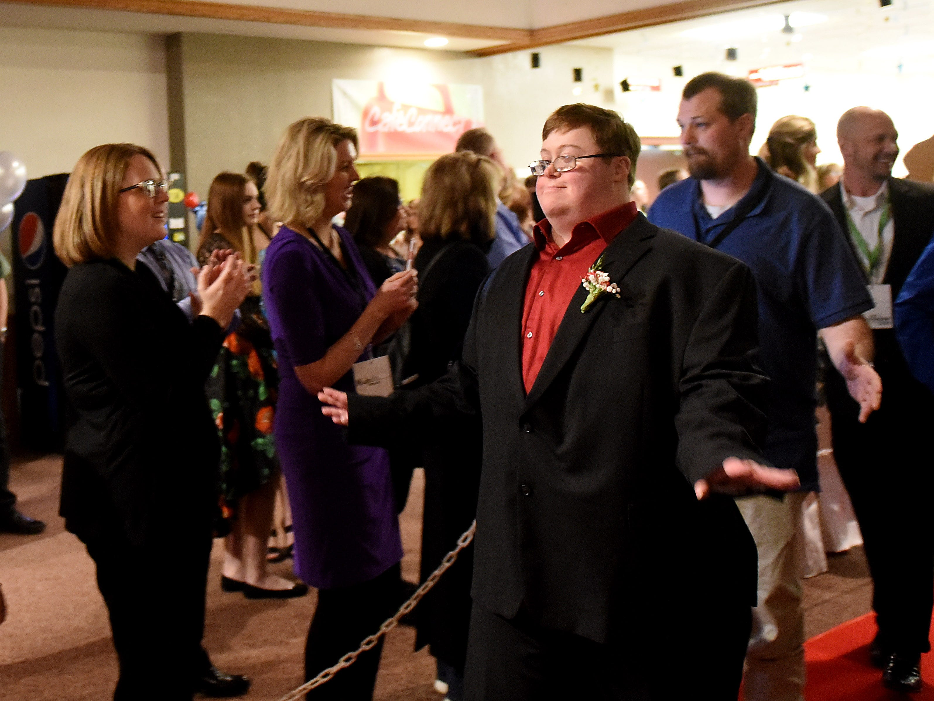 The annual Night to Shine dance, sponsored by the Tim Tebow Foundation, on Friday, Feb. 8, 2019 at Community Church in Newark. Churches around the world hosted prom night experiences for guests with special needs. Over 200 guests with special needs enjoyed dinner, hair and makeup, karaoke, and a night of dancing.