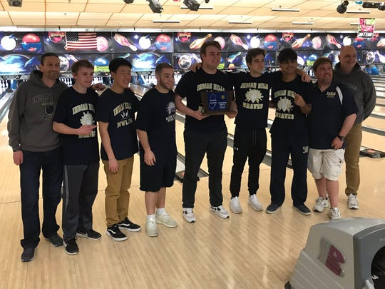 The Indian Hills boys bowling team captured its fourth sectional title in five seasons by winning Group 3 at the North 1A tournament on Saturday, Feb. 9, 2019 at Hackensack's Bowler City.