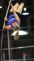 Sydney Woods, of Northern Valley/Demarest, won the North 1, Group 2 pole vault title by clearing 12 feet and her team edged Ramsey and four-time defending champions River Dell on the final event of the night to win the Group 2 crown.