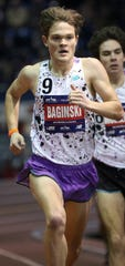 Will Baginski wins his first state title at the Meet of Champions by running a state-leading and personal best time of 4:12.90 in the mile at the John Bennett Indoor Athletic Complex in Toms River on Saturday, Feb. 23, 2019.