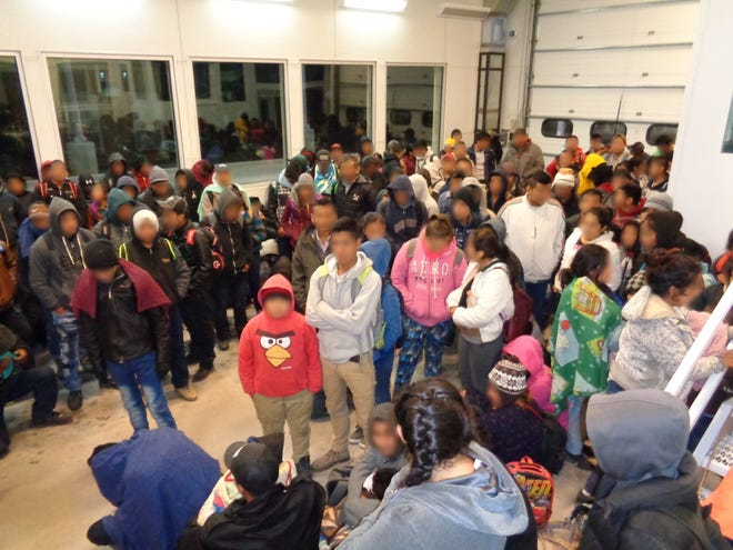 The U.S. Border Patrol blurred the faces of migrants who recently crossed into the United States at Antelope Wells. Customs and Border Protection reports the migrants are from Guatemala, Nicaragua, El Salvador and Honduras.