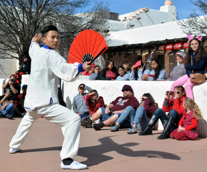 In 2009, Professor Chao Liu of Tianjin, China performed a dance during a Lunar New Year Fair presented by NMSU's Confucius Institute.