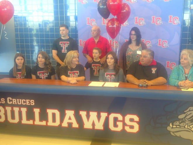 Las Cruces High School soccer player Taya Lopez signed to play college soccer at Texas Tech.