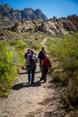 A hike on the La Cueva Loop Trail includes views of the Organ Mountains and the Mesilla Valley.