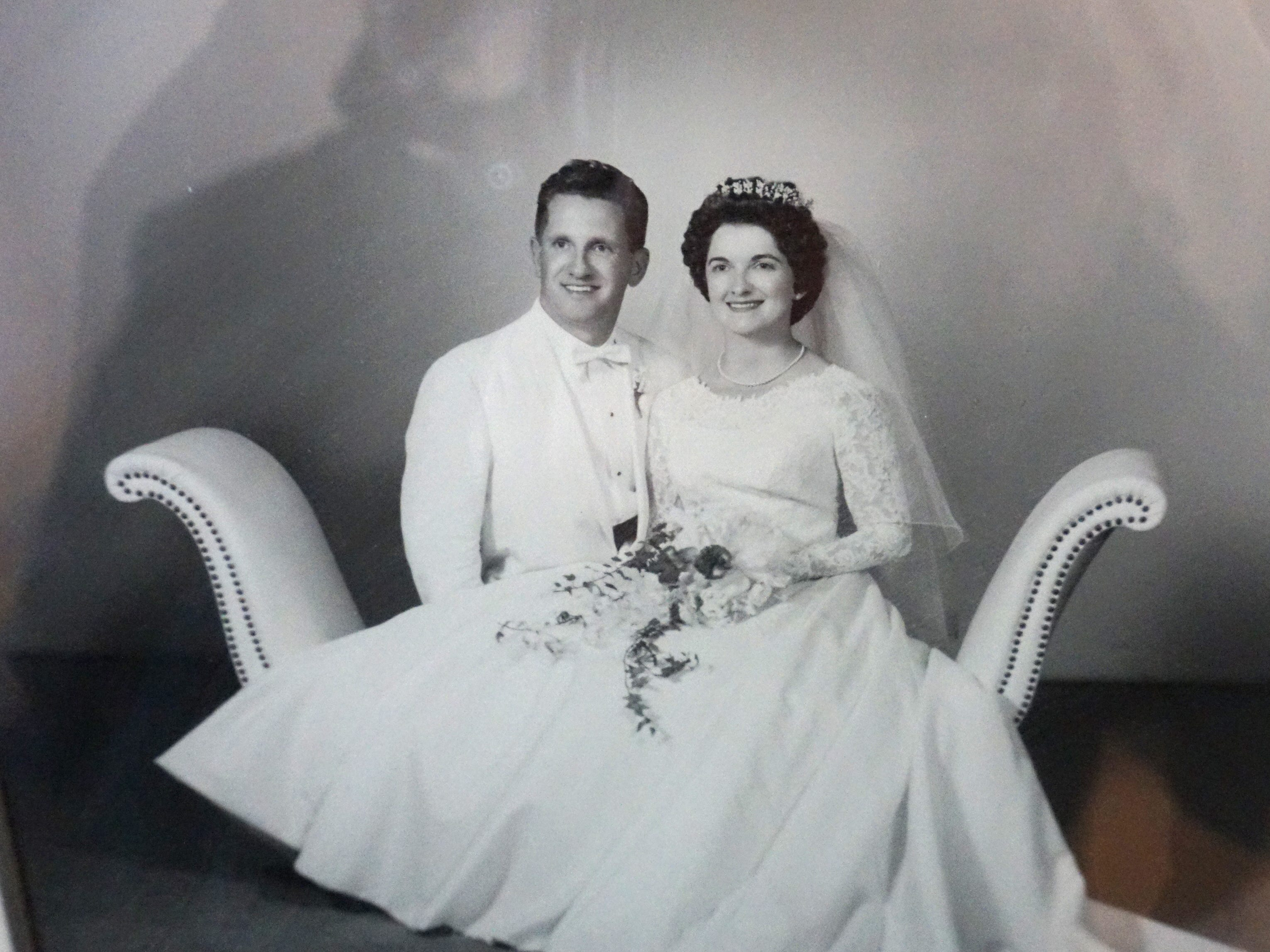 Bill and Helen Barz's wedding photo. The pair met in Detroit and danced their way into each other's hearts.