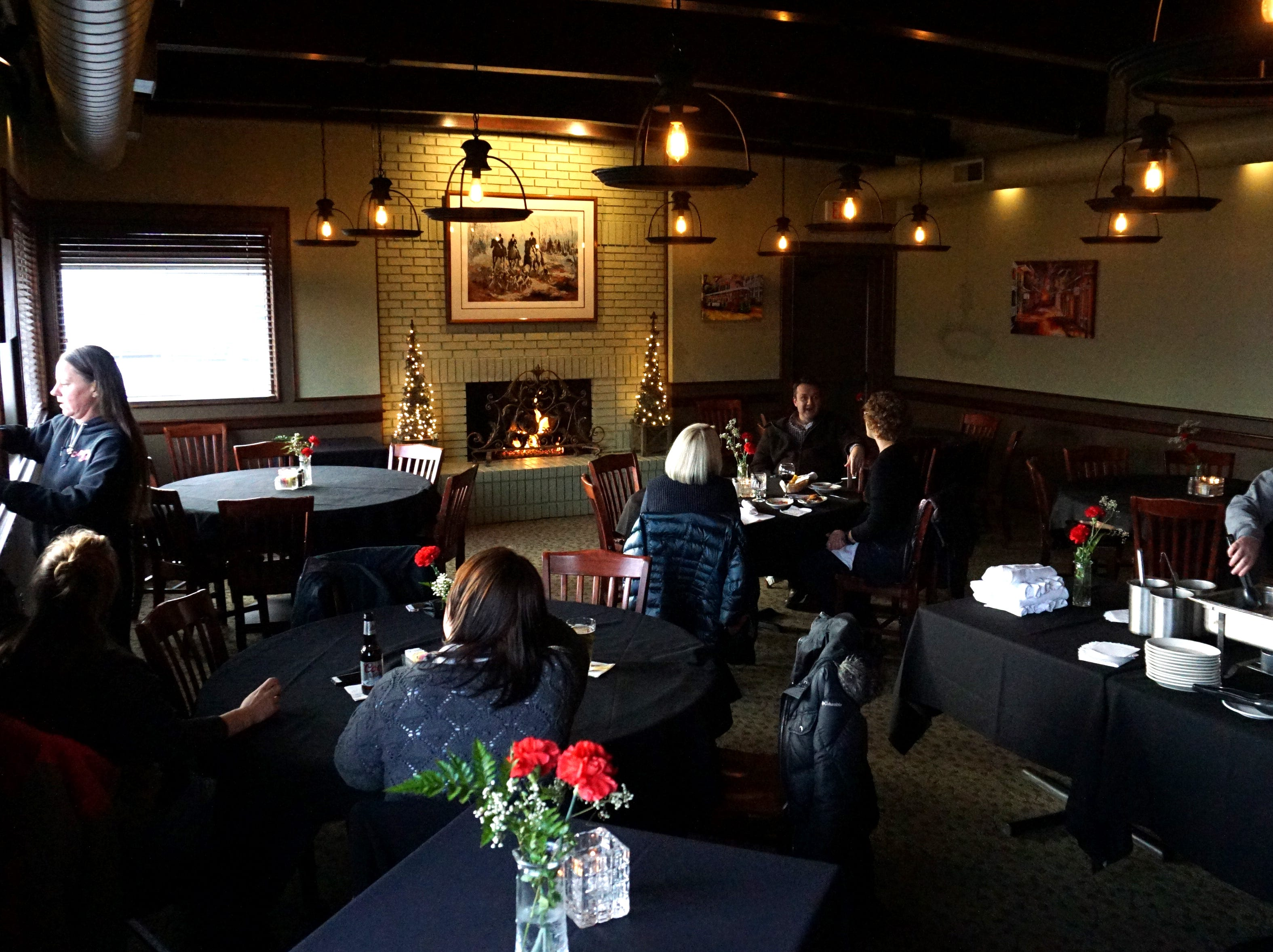 Stella's Trackside in Plymouth on Starkweather. The eatery is now offering a Friday afternoon happy hour in this room for educators with snacks and reduced price drinks.