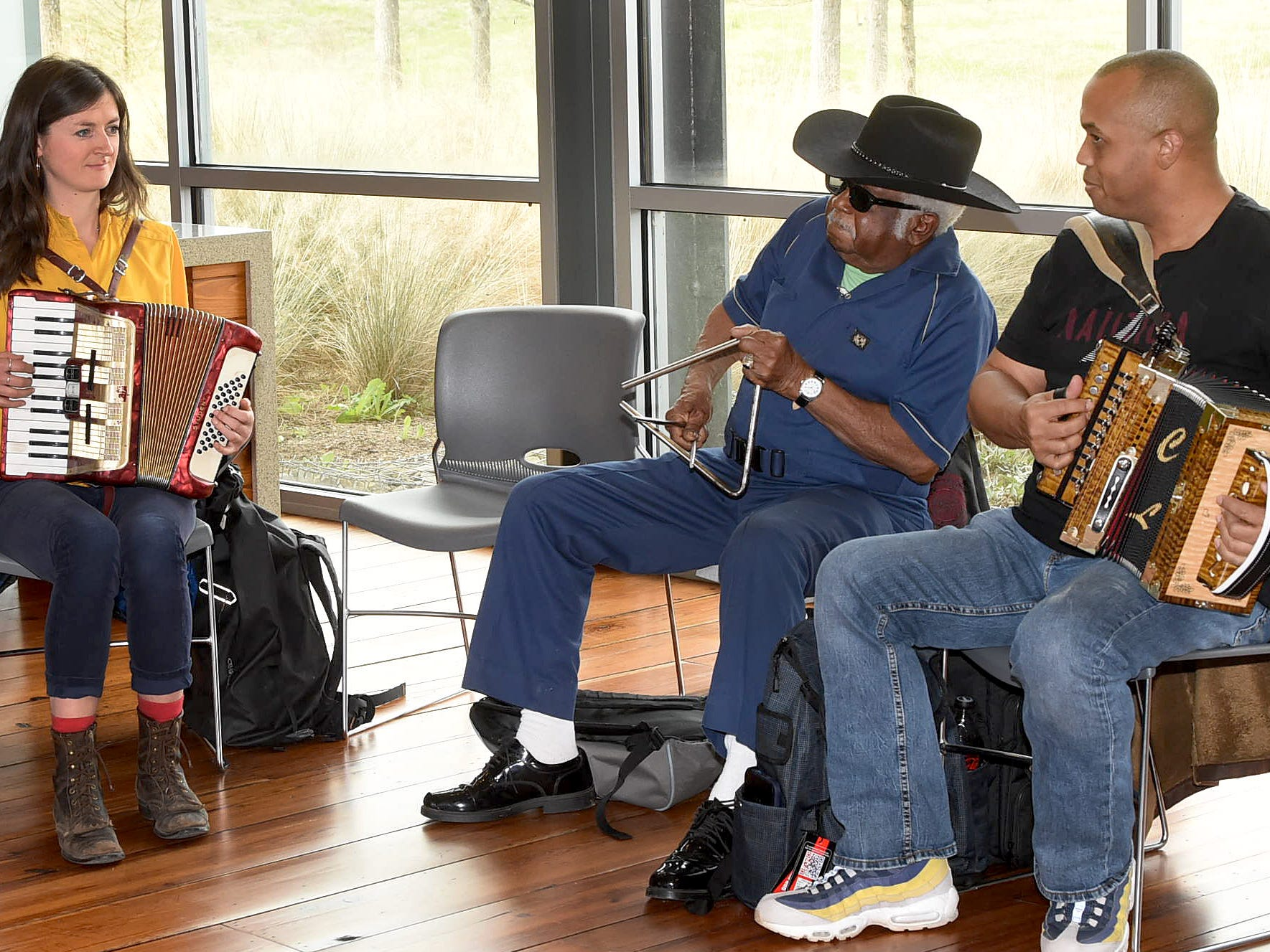 Saturday jam session at the St. Landry Parish Visitors Center
