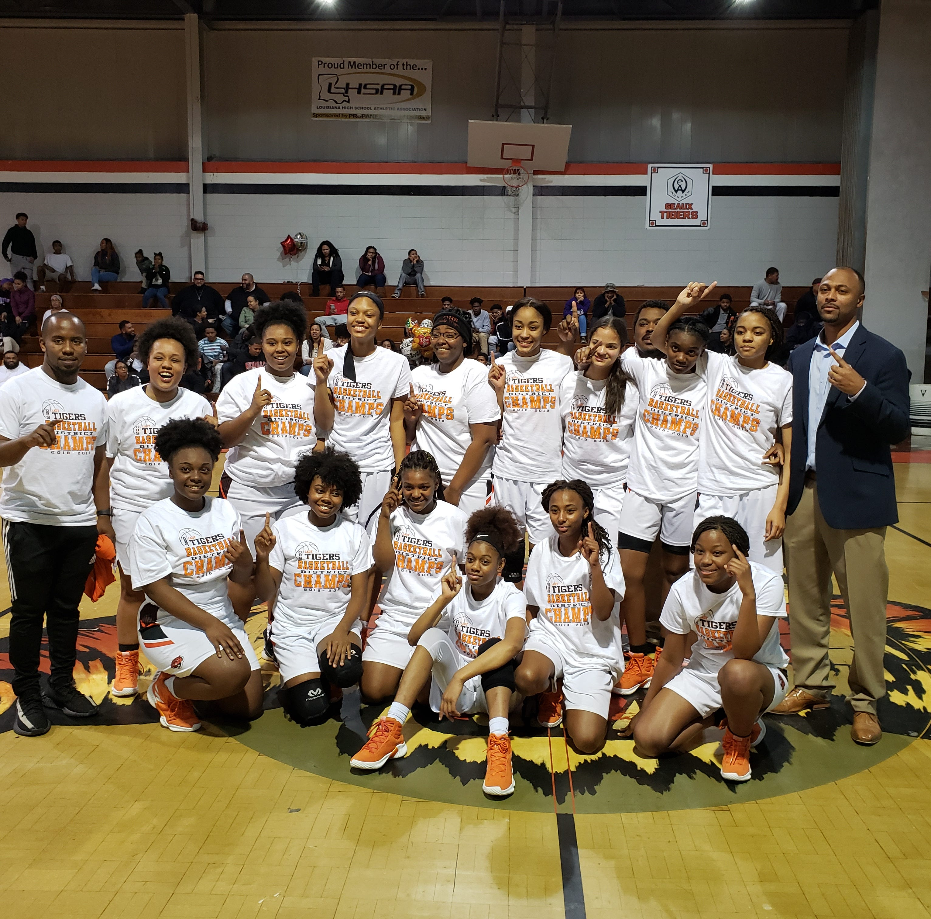 Three parish girls teams take district titles