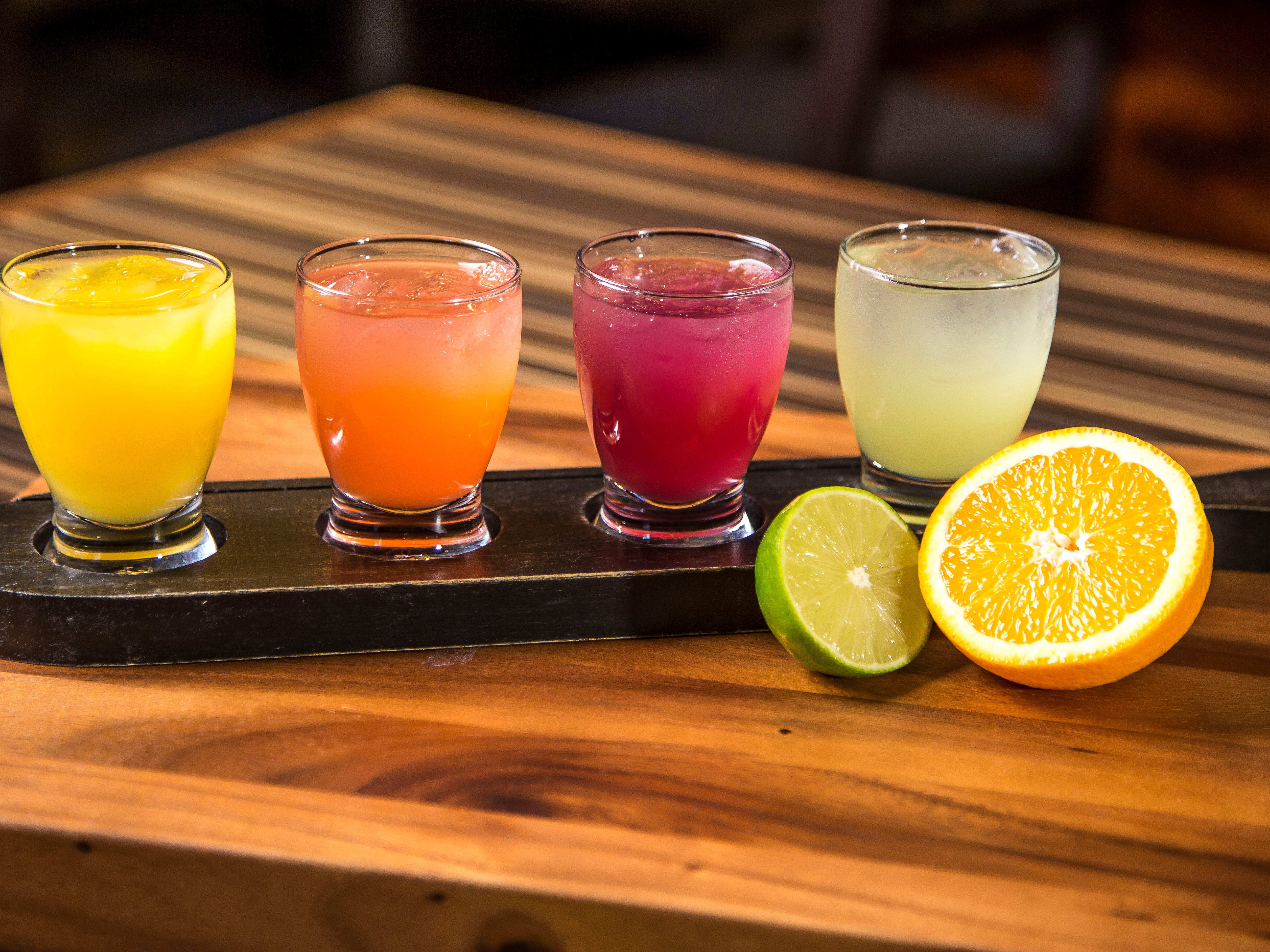 The build-your-own margarita flight at Macayo's Mexican Restaurants.